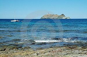 Island Near Corsica, Sea View Stock Images - Image: 17526454