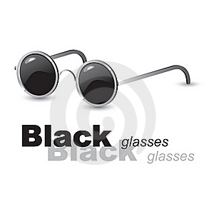 Black Glasses Stock Photo - Image: 17528180