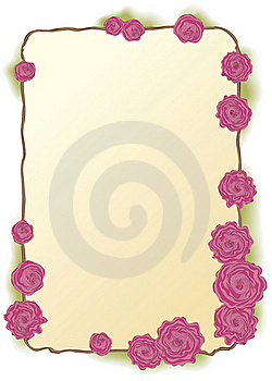 Vector Frame Of Lush Pink Roses Stock Image - Image: 17528821