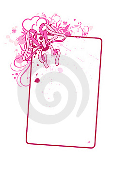 Vertical Card With Bow Stock Photography - Image: 17530262