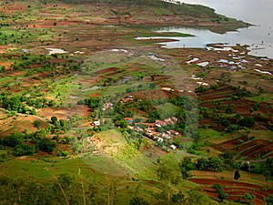 Indian Village Near A River Royalty Free Stock Photography - Image: 17530327
