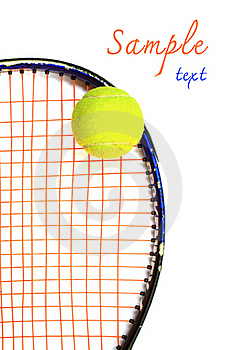 Tennis Racket And Ball, On White Background Stock Image - Image: 17530501