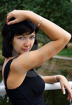 Beautiful Girl On The Bridge Royalty Free Stock Photography - Image: 17531647