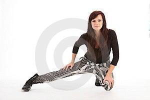 Street Dancer Girl In Black Boots On White Bg Stock Photography - Image: 17532412