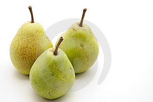 Pears With Stem Royalty Free Stock Photography - Image: 17532427