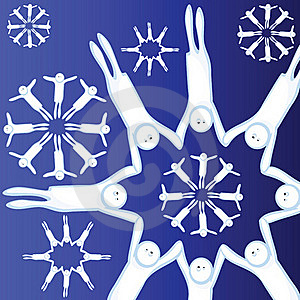 Alive Snowflakes Stock Photography - Image: 17532772