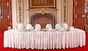 Table Set For A Special Occasion Stock Photography - Image: 17534572