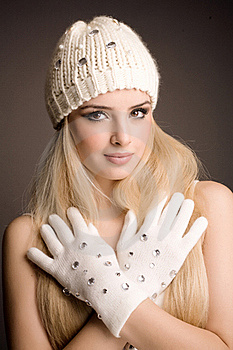 Fashion Winter Portrait Stock Image - Image: 17534701