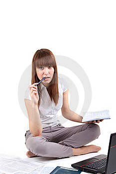 The Student Prepares For Examinations Stock Image - Image: 17537871