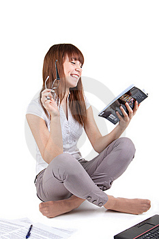 The Student Prepares For Examinations Royalty Free Stock Image - Image: 17537876