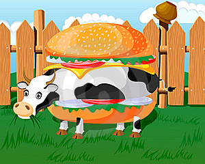 Cow Hamburger Stock Photography - Image: 17538072