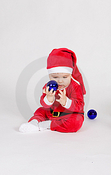 Little Boy In Santa Clothes Royalty Free Stock Images - Image: 17539119