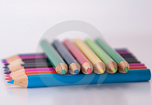 Group Of Color Pencils Stock Photos - Image: 17539863