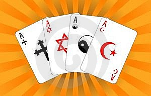 Four Religious Aces Royalty Free Stock Photography - Image: 17540317