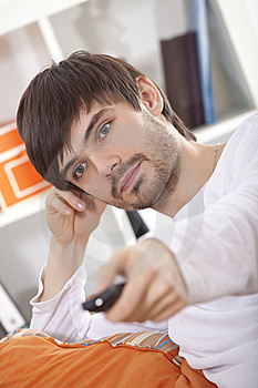 Man With Remote Stock Images - Image: 17540954
