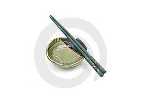 Chopsticks On Plate Royalty Free Stock Photos - Image: 17543118