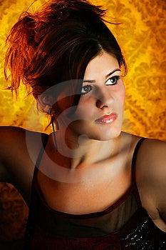 Beautiful Young Woman Headshot Royalty Free Stock Photography - Image: 17545047