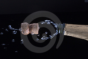 Champagne And Cork Royalty Free Stock Photo - Image: 17545655