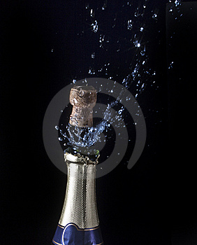 Champagne And Cork Royalty Free Stock Image - Image: 17545686