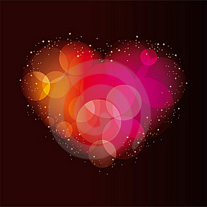 Abstract Background With A Heart Royalty Free Stock Photography - Image: 17547217