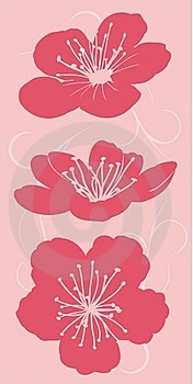 Floral Decor, Silhouette Stock Images - Image: 17552644