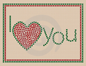 I Love You Card Royalty Free Stock Photo - Image: 17556235