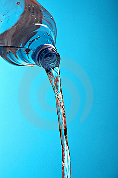 Water Runs Out Of Plastic Bottle Royalty Free Stock Photos - Image: 17556268