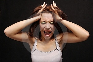 The Shouting Girl Stock Image - Image: 17556951