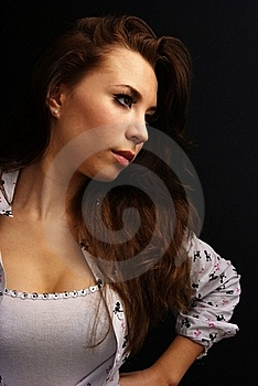 Long Hair Royalty Free Stock Images - Image: 17556969