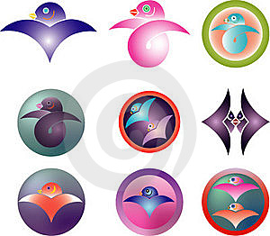 A Traditional Family Crest And The Swallow Royalty Free Stock Photos - Image: 17557718