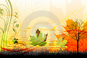 Abstract Autumn Card Royalty Free Stock Images - Image: 17558479