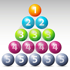 Colorful Number Balls Stock Photo - Image: 17558490