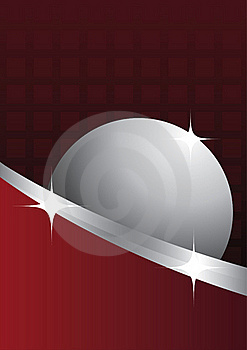 The Red Background With A Sphere Stock Photo - Image: 17561140