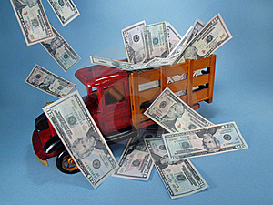 Truck With Cash. Stock Photography - Image: 17565452
