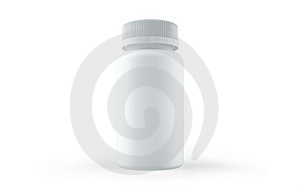 White Bottle For Pills Royalty Free Stock Images - Image: 17565799