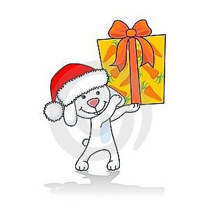 Rabbit With A Gift Stock Photos - Image: 17566503