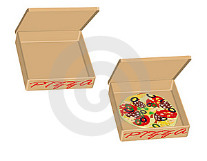 Pizza Box Royalty Free Stock Images - Image: 17566699