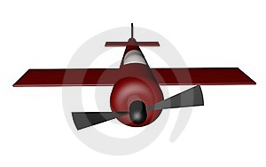 3D Red Plane Model Royalty Free Stock Images - Image: 17566889