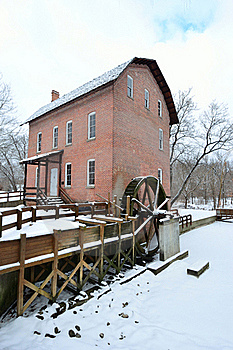 John Wood Grist Mill In December Royalty Free Stock Photography - Image: 17567227