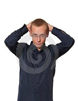Young Man In Shirt Stock Photos - Image: 17570623