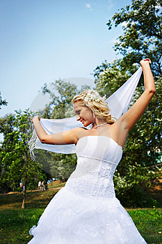 Beautiful Bride With White Cloth Stock Images - Image: 17572224