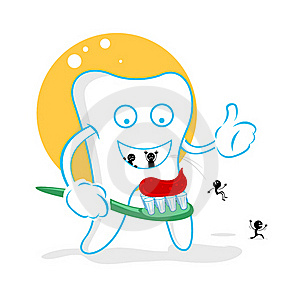 Happy Dent With Germs Royalty Free Stock Images - Image: 17573499