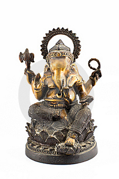 Ganesh Brass Sit On Lotus Stock Images - Image: 17575974