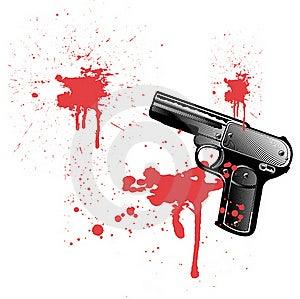 Bleeding Gun Royalty Free Stock Photos - Image: 17576108