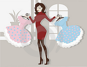 Dress For Choice Stock Image - Image: 17576751