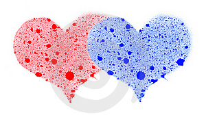 Two Hearts. Royalty Free Stock Photography - Image: 17577027