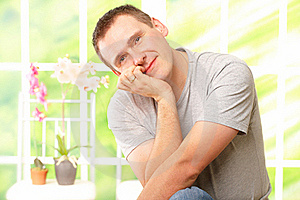 Handsome Man Resting Royalty Free Stock Photo - Image: 17580505