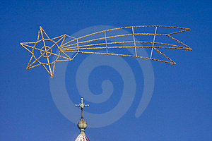 Cross And Comet - Christmas Sky Royalty Free Stock Photography - Image: 17580677