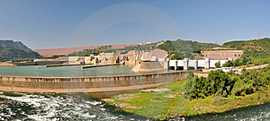 Panorama Of Water Electricity Plant And Dam Stock Photos - Image: 17582653