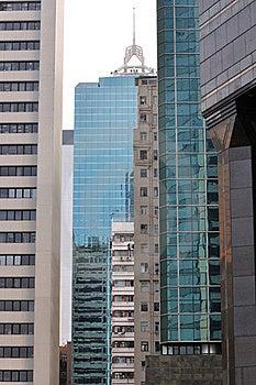 Edificios De La Ciudad En Jerarquía Imágenes de archivo libres de regalías - Imagen: 17582679